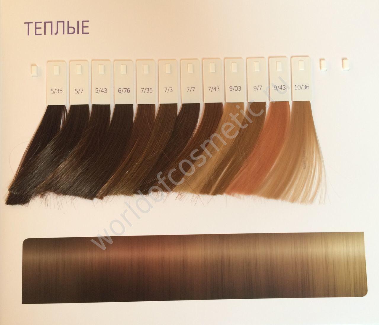 Цветовая палитра оттенков Велла Колестон Всё о красоте 377