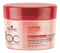 Schwarzkopf Professional BC Peptide Repair Rescue Маска 200 мл